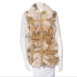 Michael Kors REAL FUR lodge vest!!!!!!